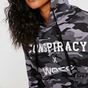 Conspiracy by Wesc Camo Grey Pull Over Hoodie